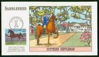 MAYFAIRSTAMPS US FDC 1985 MAN ON HORSE SADDLEBRED SOUTHERN G