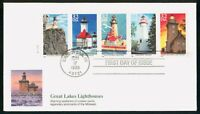 MAYFAIRSTAMPS US FDC 1995 LIGHTHOUSE COMBO GREAT LAKES FIRST