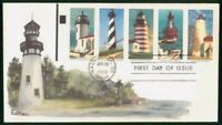 MAYFAIRSTAMPS US FDC 1990 LIGHTHOUSE COMBO FIRST DAY COVER W