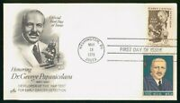 MAYFAIRSTAMPS US FDC 1978 DR GEORGE PAPANICOLAOU PAP TEST FI