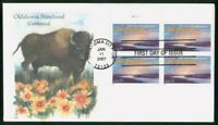 MAYFAIRSTAMPS US FDC 2007 OKLAHOMA BLOCK BISON FIRST DAY COV
