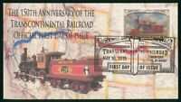 MAYFAIRSTAMPS US FDC 2019 TRANSCONTINENTAL RAILROAD FIRST DA
