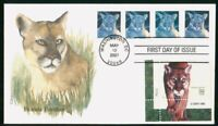 MAYFAIRSTAMPS US FDC 2007 FLORIDA PANTHER BLOCK FIRST DAY CO