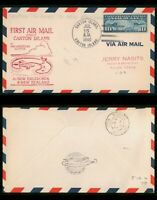 MAYFAIRSTAMPS US FIRST FLIGHT COVER 1940 CANTON ISLAND TO NE