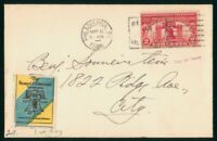 MAYFAIRSTAMPS US FDC 1926 SESQUICENTENNIAL STAMP & LABEL FIR