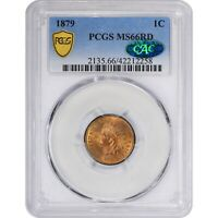 1879 1C MS66 RD PCGS CAC INDIAN CENT PENNY RED