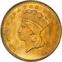 1864 G$1 MS68 OGH PCGS CAC NEAR FINEST UNDERGRADED