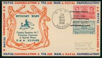 MAYFAIRSTAMPS US NAVAL 1938 MILITARY MEN USS RALEIGH WELCOME