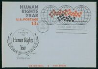 MAYFAIRSTAMPS US FDC 1968 HUMAN RIGHTS YEAR DOVES ARTMASTER