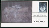 MAYFAIRSTAMPS US FDC 1989 GRAY WOLF FIRST DAY COVER WWO_0703