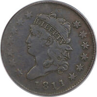1811 CLASSIC HEAD LARGE CENT PCGS VF-20 CAC KEY DATE