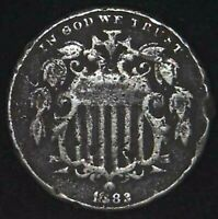 1882-P 5C SHIELD NICKEL 21OOC0523 70 CENTS SHIPPING