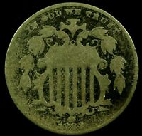 1882-P 5C SHIELD NICKEL 20LCT1223 70 CENTS SHIPPING