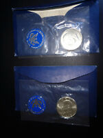 1971-S & 1972-S U.S. MINT ISSUE  EISENHOWER SILVER DOLLARS  LOT OF TWO