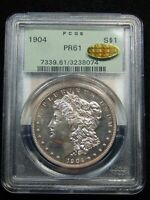 1904 $1 PROOF MORGAN DOLLAR PR-61 PCGS/ GOLD CAC OGH AMAZING COIN