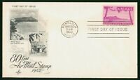 MAYFAIRSTAMPS US FDC 1952 80 CENT AIR MAIL AVIATION HAWAII A
