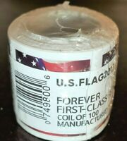 ONE  1  ROLL / COILS OF US FLAG 2017  FOREVER US USA POSTAGE