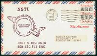 MAYFAIRSTAMPS US SPACE 1982 NSTL SHUTTLE MAIN ENGINE TEST 5
