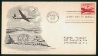 MAYFAIRSTAMPS US FDC 1947 NEW AIR MAIL SERIES AVIATION ARTMA