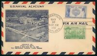 MAYFAIRSTAMPS US FDC UNSEALED MARYLAND COMBO NAVAL ACADEMY F