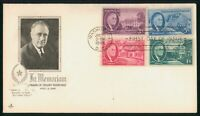 MAYFAIRSTAMPS US FDC UNSEALED 1946 COMBO FRANKLIN D ROOSEVEL