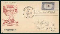 MAYFAIRSTAMPS US FDC UNSEALED 1944 KOREA'S OPPRESSION BY JAP