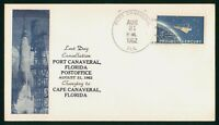 MAYFAIRSTAMPS US SPACE 1962 PORT CANAVERAL FL LAST DAY CANCE