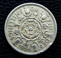 GREAT BRITAIN 2 TWO SHILLINGS 1956