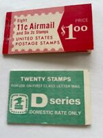 TWO STAMP BOOKLETS 11 & 2C AIRMAIL 1971 &
