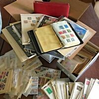 WW STAMPS LARGE USPS BOX FULL OF WW ALBUMS COVERS & STAMPS U