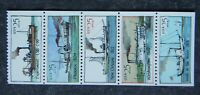 SCOTT  2405   2409  2409A    25C STEAMBOATS BOOKLET PANE OF