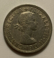 1962 GREAT BRITAIN FLORIN TWO SCHILLINGS COIN