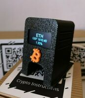CRYPTO COIN TICKER   BITCOIN  WIFI   REAL TIME PRICE   ETHEREUM   DOGE /USD GBP