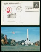 MAYFAIRSTAMPS US FDC 1966 LINCOLNS TOMB IN OAKD RIDGE CEMETE