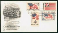 MAYFAIRSTAMPS US FDC UNSEALED 1968 COMBO 4 GRAND OLD FLAG AR