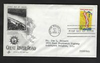 US 1319 GREAT RIVER ROAD OCTOBER 21 1966 ART CRAFT FIRST DAY