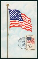 MAYFAIRSTAMPS US FDC 1961 FLAGTOWN MAXIMUM CARD FIRST DAY CO