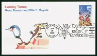 MAYFAIRSTAMPS US FDC 2000 ROAD RUNNER AND WIL E COYOTE FIRST