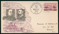 MAYFAIRSTAMPS US FDC UNSEALED 1937 NAVY HEROES FARRAGUT AND