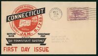 MAYFAIRSTAMPS US FDC SEALED 1935 CONNECTICUT TERCENTENARY FI