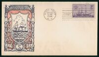 MAYFAIRSTAMPS US FDC UNSEALED 1944 SS SAVANNAH JWC FIRST DAY