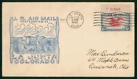 MAYFAIRSTAMPS US FIRST FLIGHT COVER 1940 PLATE SINGLE LA JUN