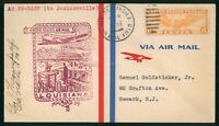 MAYFAIRSTAMPS US FIRST FLIGHT COVER 1938 NEW ORLEANS TO JACK