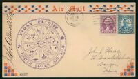 MAYFAIRSTAMPS US FIRST FLIGHT COVER 1934 AUGUSTA MAINE POSTM