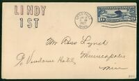 MAYFAIRSTAMPS US FDC 1927 SPIRIT OF ST LOUIS LINDY 1ST CACHE