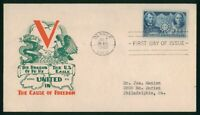 MAYFAIRSTAMPS US FDC 1942 UNSEALED D KNAPP CHINESE RESISTANC