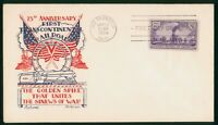 MAYFAIRSTAMPS US FDC 1944 KNAPP FLEETWOOD UNSEALED RAILROAD