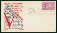 MAYFAIRSTAMPS US FDC 1944 KNAPP FLEETWOOD UNSEALED TELEGRAPH