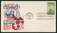 MAYFAIRSTAMPS US FDC 1945 KNAPP FLEETWOOD UNSEALED MARINES F