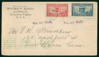 MAYFAIRSTAMPS US FDC SEALED 1928 COMBO 2 INTERNATIONAL CIVIL